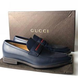 Gucci Cirano Lux Miro'Soft Blu Rosso Loafers G06